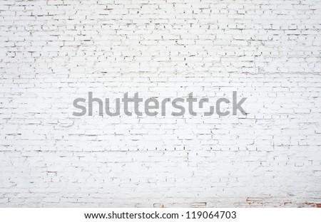 white old brickwork closeup, backgrounds - stock photo