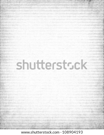 white old canvas texture with delicate oblique stripes as grunge background - stock photo
