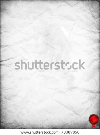 White Old Paper with red wax seal - stock photo
