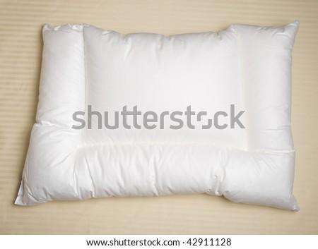 white orthopedic pillow - stock photo