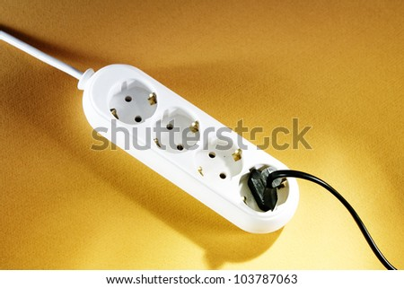 White outlet isolated. Great details. - stock photo