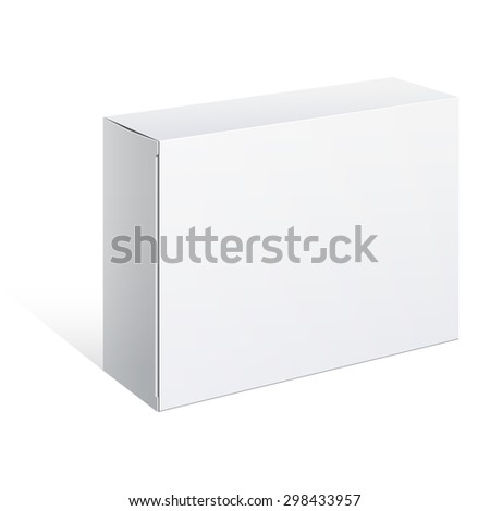 White Package Box. For Software, electronic device and other products.  - stock photo
