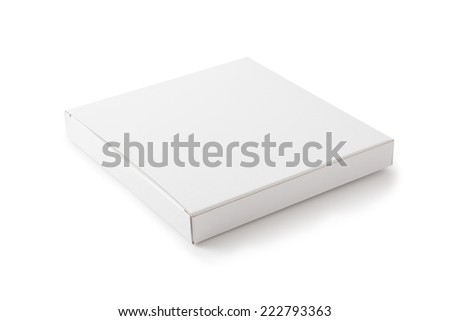 White Package Box , Isolated on white - stock photo