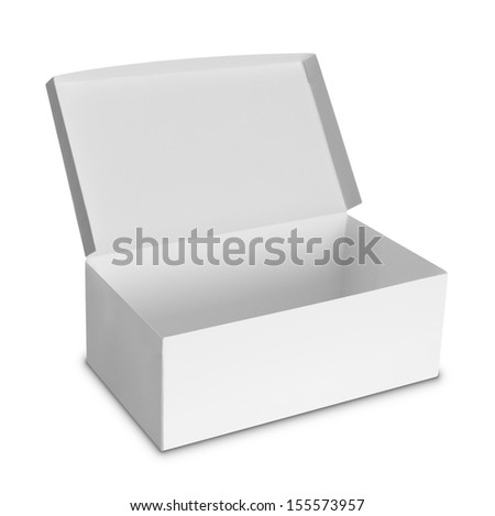 white Package Box isolated over white background - stock photo
