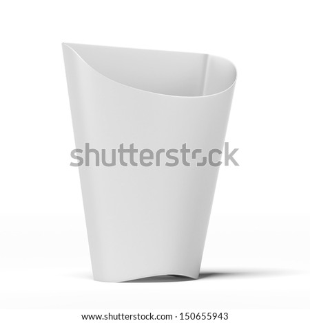 white Package container for french fries - stock photo