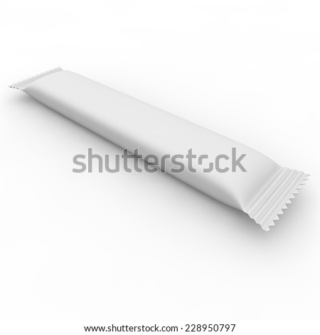 White package for sugar, salt, coffee, spices and other products - stock photo