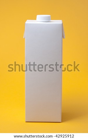 White package model on a yellow background, for new design - stock photo