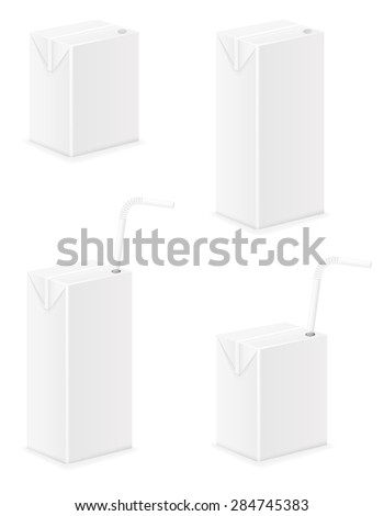 white package with juice illustration isolated on background - stock photo
