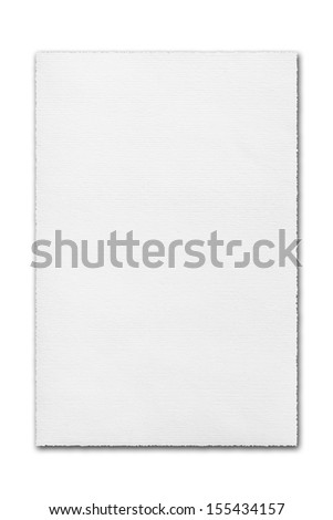 White page of paper isolated on white background - stock photo