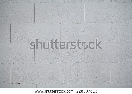 white painted concrete block wall background texture - stock photo