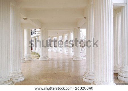 white palace building inside - stock photo