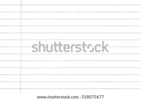 White paper and line of notebook paper texture - stock photo