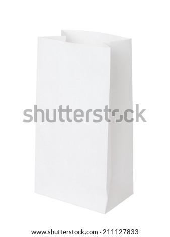 white paper bag - stock photo