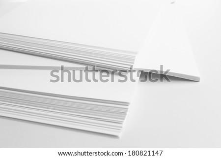 White paper close up - stock photo