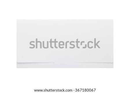 White paper envelope isolated on white background - stock photo