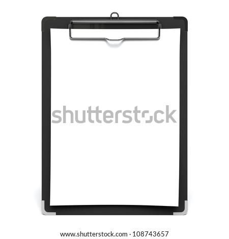 White Paper On Clip Board - stock photo