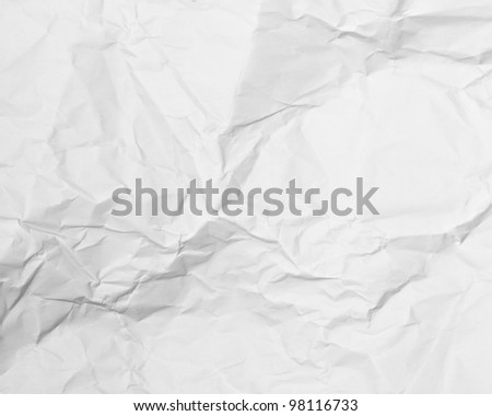 White paper page as background or texture - stock photo