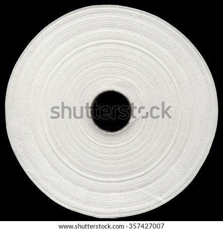 white paper roll against black background - stock photo