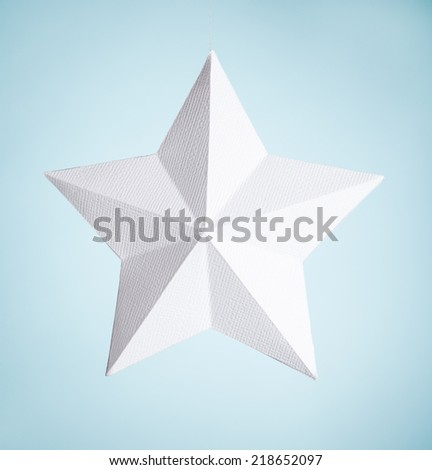white paper star - stock photo