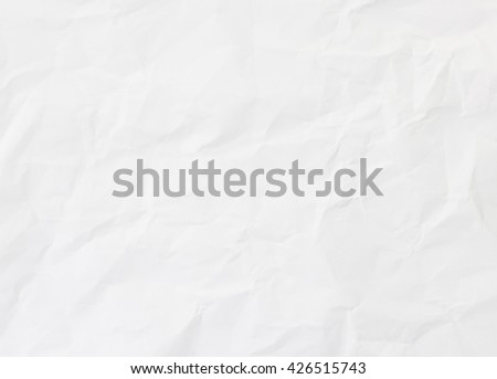 White Paper texture background. White creased paper background texture. Crumpled white paper background - stock photo