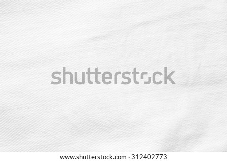 white paper texture background wrinkled canvas fabric pattern - stock photo