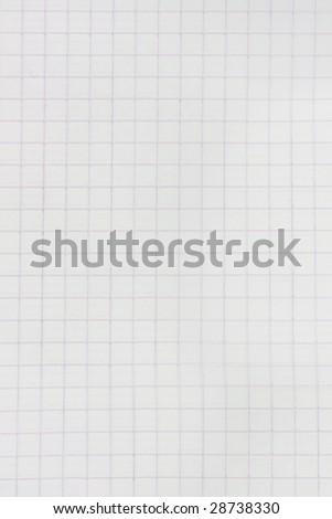 White paper texture with squares - stock photo