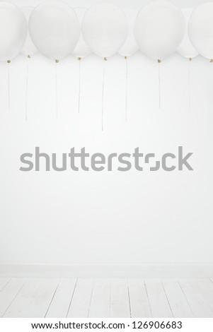 White party balloons - stock photo