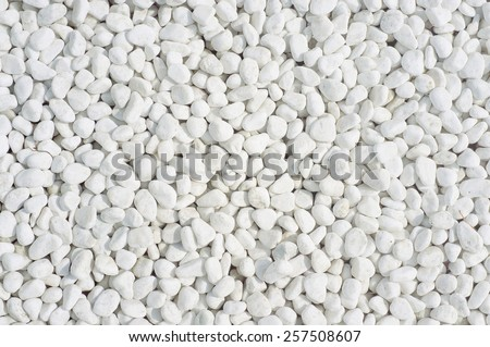 white pebble background - stock photo