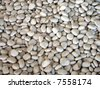 white pebble stones texture - stock photo