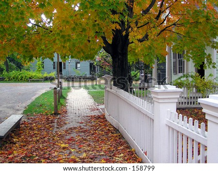 White Picket Fence - stock photo