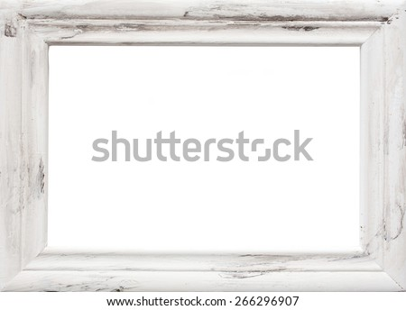 White picture frame texture - stock photo