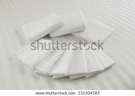White pillowcase. - stock photo