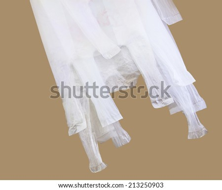 White plastic bag for reused with clipping path - stock photo
