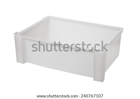 white plastic box - stock photo