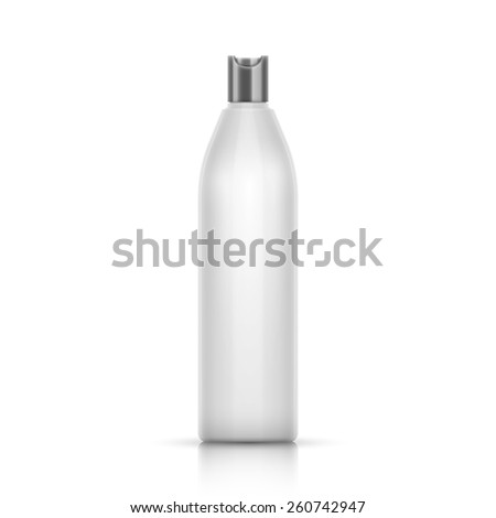 White Plastic Container For Shampoo - stock photo