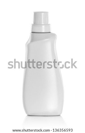 White plastic container product isolated over white background - stock photo
