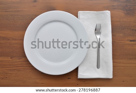 White plate - stock photo