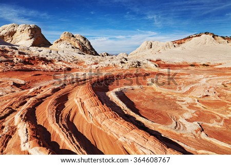 White Pocket rock formations, Vermilion Cliffs National Monument, Arizona, USA - stock photo