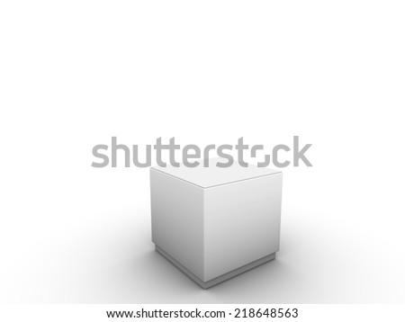 white podium to place product - stock photo