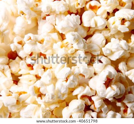 White popcorn texture. Food image. Eat background - stock photo