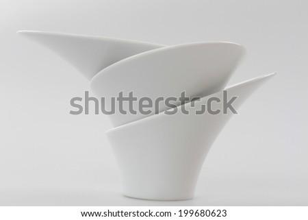 White porcelain bowl  - stock photo