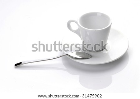 White porcelain cup - stock photo
