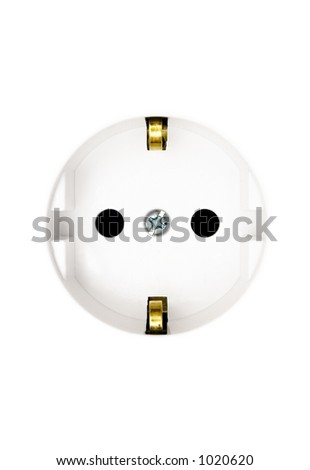 White Power Outlet (Close View) - stock photo