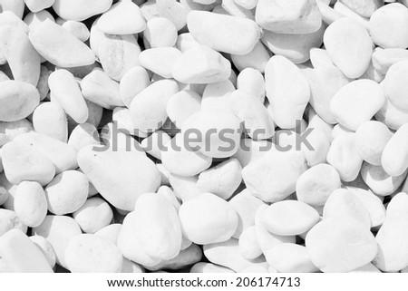 white river grit stones - stock photo