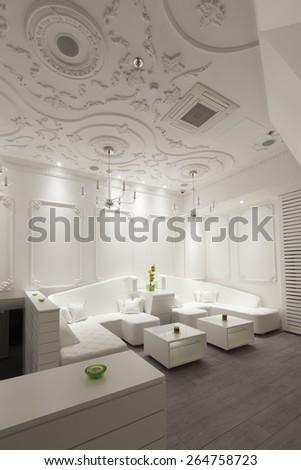 white room - stock photo