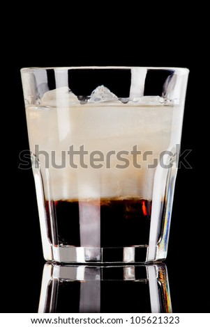 White russian cocktail - stock photo