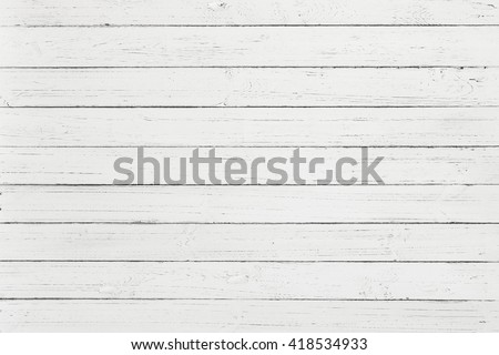 White rustic wood wall texture background, White pallet wood board - stock photo