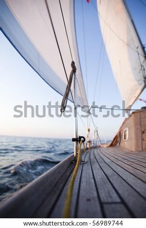 White sails - stock photo