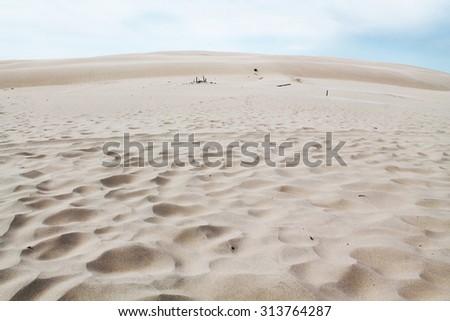 white sand on a desert - stock photo
