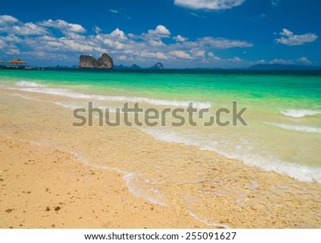White Sand Windy Holiday  - stock photo